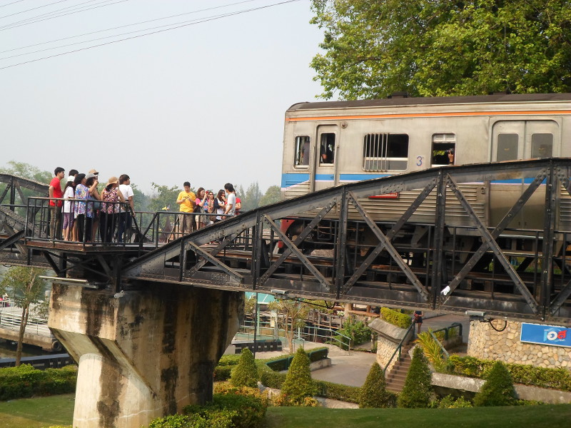 Taking refuge on the Bridge Over the River Kwai